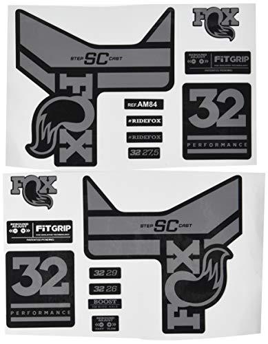 Ecoshirt PN-3TBO-G3SC Pegatinas Stickers Fork Fox 32 SC Performance 2017 Am84 Aufkleber Decals Autocollants Adesivi Forcela Gabel Fourche, Gris