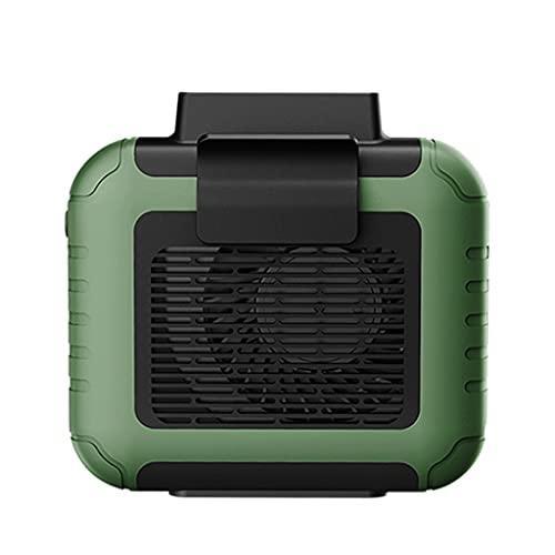 Aiglen Mini Ventilador portátil con Clip de Cintura, Ventilador USB Recargable, Aire Acondicionado, 6000 Mah, Trabajo al Aire Libre, Acampada, Ventiladores de Pesca, Enfriador de Aire