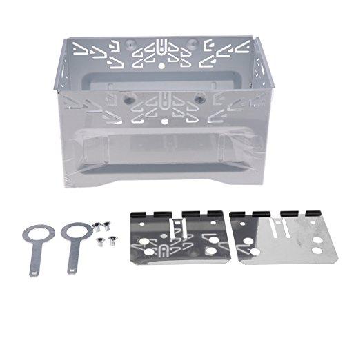 B Baosity Instalación Duradera ISO 2DIN Kit De Reposición De Audio Esté Para Automóvil Con Jaula De Metal NUEVO