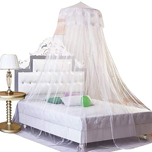 Housweety G00616 Dome Bed Canopy Netting Princess Mosquito Net, White