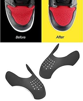 Shoe Crease Protector 1 Pair Men s Sneaker Crease Guards Shoe Toe Box Anti Crease  Black