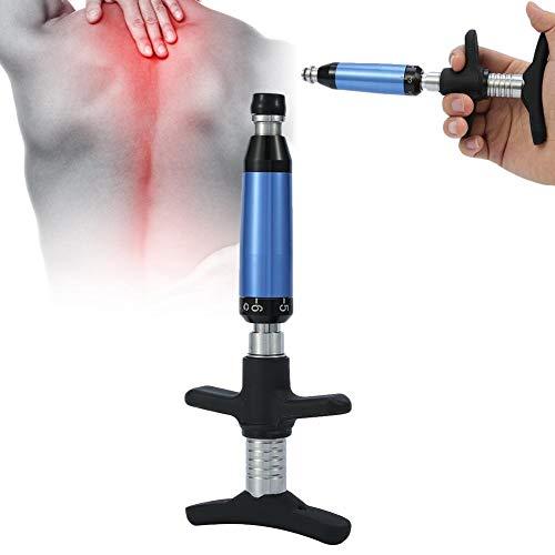Pistola de masaje, 6 niveles Herramienta de corrección de ajuste quiropráctico con activador de columna vertebral manual con cuatro cabezales masajeadores (6 Level with Four Heads)