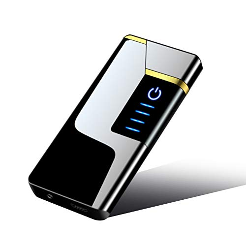Heylas USB Elektro Feuerzeug, Elektronische Feuerzeug Aufladbar/Winddicht/Lange Lebensdauer Plasma Feuerzeug Mit LED Leistungsanzeige