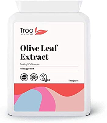 Olive Leaf Extract 6750mg 60 Capsules - Daily Supplement to Support Healthy Immune System, Balanced Blood Sugar, Healthy Circulation, Balanced Cholesterol and Help Provide Energy by Troo Health Care