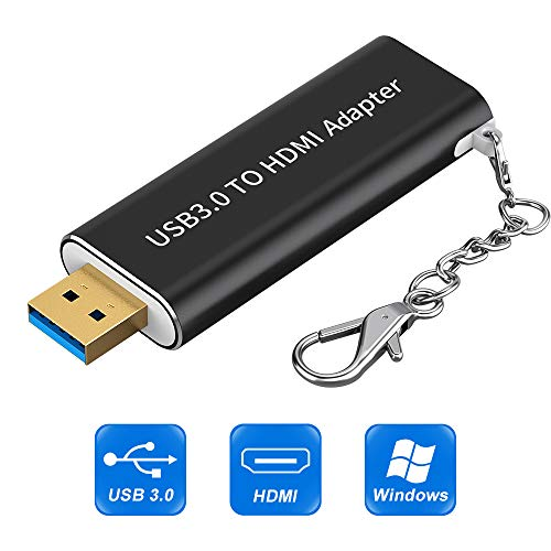 USB 3.0 to HDMI Adapter, USB to HDMI Adapter with keychain,HD 1080P Video...