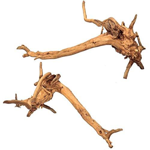 Adorno para acuario de madera derivada de árbol de la raíz de árbol de madera muerta, 15-20cm, Forma aleatoria., 1