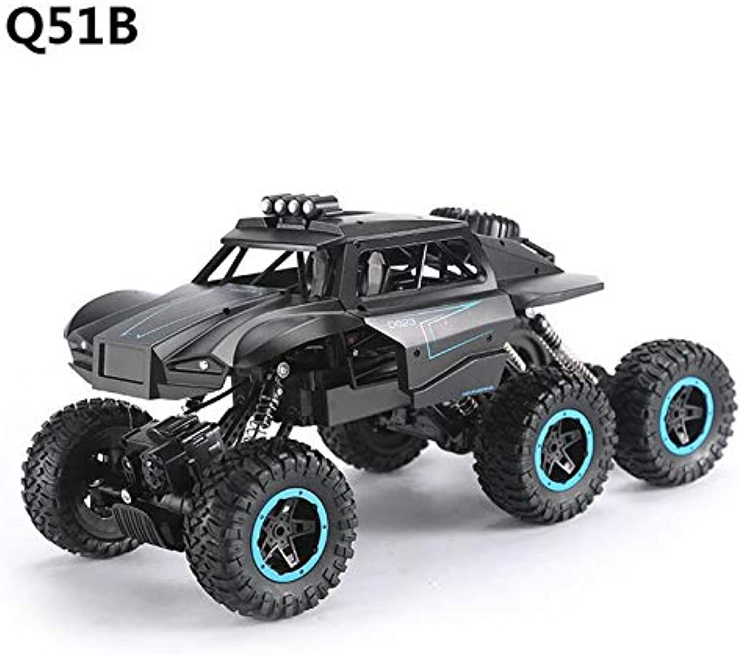 Generic Form JJRC Q51 RC Car 2.4G Off Road MAX 6WD RTR Racing Truck Car Six Wheels Brushed Remote Control Climbing Car Toy with 2battery Q51B2battery