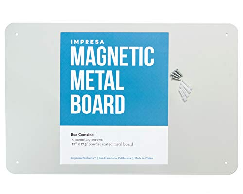 17.5' x 12' Magnetic Board - Great Magnet Bulletin Board to Display Magnetic Poetry, Spices, Notes, Photos and More - Ideal for The Wall, Refrigerator, Cubicle and More - by Impresa Products
