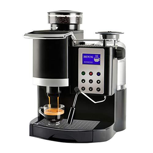 GYMO Máquina Automática De Café De Barma Italiana, Rectificado De Acero Inoxidable Y Embarcación, Modo De Temporizador Programable Y Tablero De Aislamiento Muela Automática, Ajustes