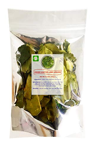 Lungcha Dried Kaaffir Lime Leaves 10 Gram Part Of Tom Yum Sets Thai Food Hot and Spicy Soup For The Kitchen will Returnable To Fresh After Cooked.