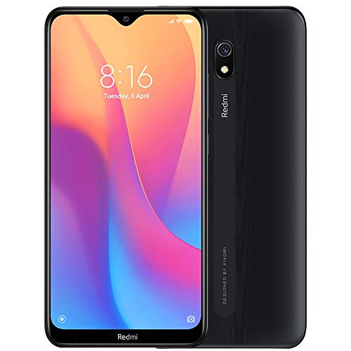 "Xiaomi Redmi 8A (32GB, 2GB RAM) 6.22"" HD Display, Snapdragon 439, 5000mAh Battery, Dual SIM GSM Unlocked - US & Global 4G LTE International Version (Midnight Black, 32 GB)"