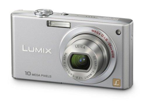 Panasonic DMC-FX35EG-S Digitalkamera (10 Megapixel, 4-fach opt. Zoom, 6,4 cm (2,5 Zoll) Bildschirm, Bildstabilisator) silber