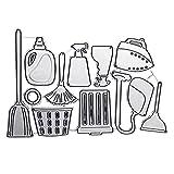 Corte de metal Dies Limpieza del hogar Combinación Herramientas Set Relieve Die Paper Art Plantilla de corte de suministros hechos a mano Fabricación de corte