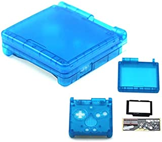 Full Housing Case Cover Housing Shell Replacement for Game boy Advance SP GBA SP Shell Case with Buttons Kit-Clear Sky Blue