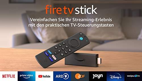Fire TV Stick mit Alexa-Sprachfernbedienung (mit TV-Steuerungstasten) | HD-Streaminggerät | 2021