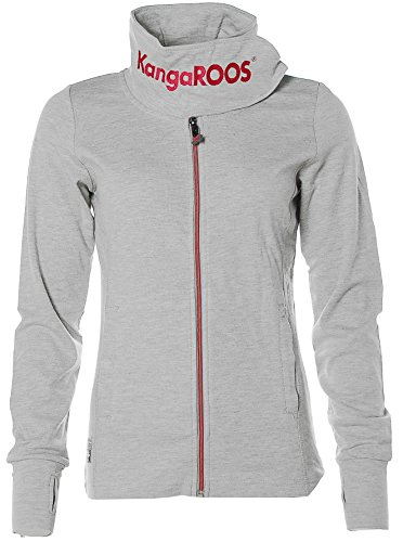 KangaROOS Damen Sweatjacke mit Schalkragen Grau 36/38