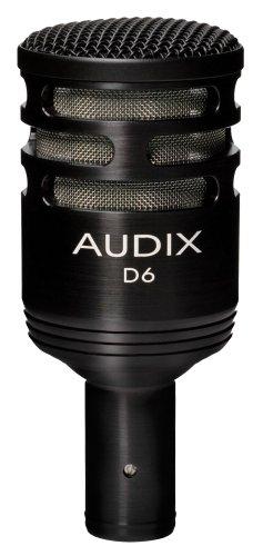 Audix D6 hoogwaardige dynamische microfoon voor instrumenten met lage frequentie-aandeel.