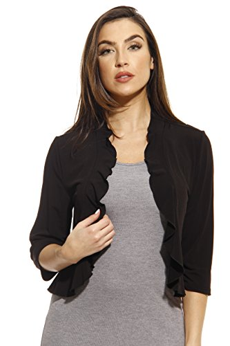 Just Love 401572-Blk-2X Plus Size Shrug/Women Cardigan Black