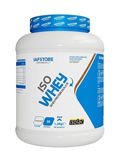 Iafstore Supplements Iso Whey integratore alimentare con proteine del siero di latte isolate a marchio Isolac (Vaniglia) 1500 g
