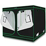 Quictent 96'x96'x78' Mylar Hydroponic Grow Tent with Observation Window and Removable Floor Tray for Plant Growing 8x8 ft