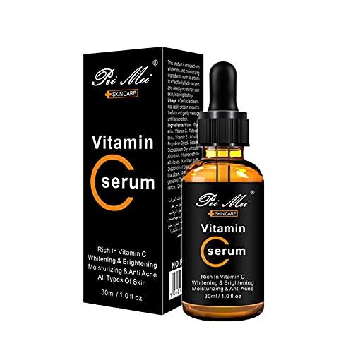Vitamin C Face Serum, Serum Facial con de Vitamina C, Bio Sérum Facial con Vitamina C, Sérum Antiedad y Antiarrugas, Bio Sérum Facial con Vitamina C, para Cara y Contorno de Ojos (30ml)