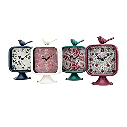 IMAX Worldwide Home 4-Pc Bird Desk Clock Set in Multicolor