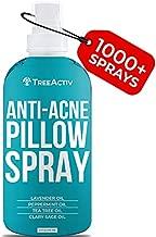 TreeActiv Anti-Acne Pillow Spray   Pimple Prevention & Freshener for Pillowcases, Blanket, Bed, Fabric, & Linen Sheets   Sleeping Mist with Lavender & Tea Tree Oils for a Deep Sleep   1000+ Sprays