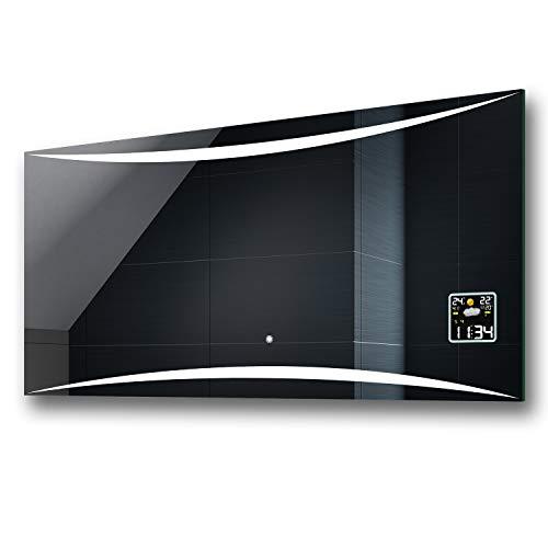 FORAM Espejo de Baño con Iluminación LED - Luz Espejo de Pared con Accesorios - Diferentes tamaños para Baño Dormitorio Maquillaje - L78