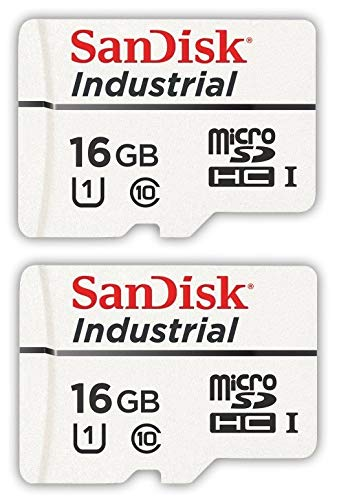 SanDisk Industrial 16GB Micro SD Memory Card Class 10 UHS-I MicroSDHC (Bulk 2 Pack) in Cases (SDSDQAF3-016G-I) Bundle with (1) Everything But Stromboli Card Reader: Amazon.es: Electrónica