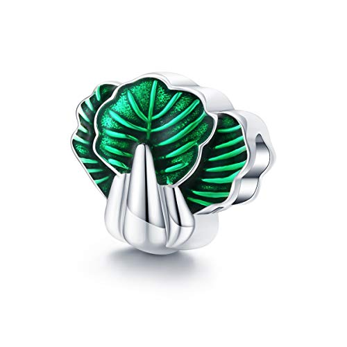 Pak Choi Groene Emaille Pak Choi Plantaardige Bedel voor Vrouwen Sieraden maken 925 Sterling Zilver Kralen Bijoux Accessoires