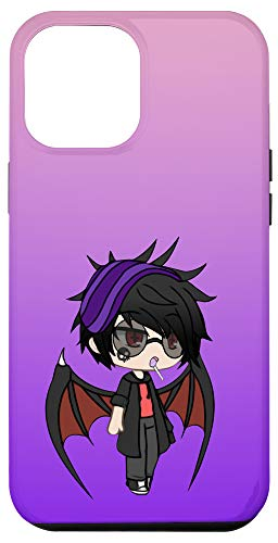 iPhone 12 Pro Max Cute Chibi style Kawaii Anime Vamp Boy with Vampire Wings Case