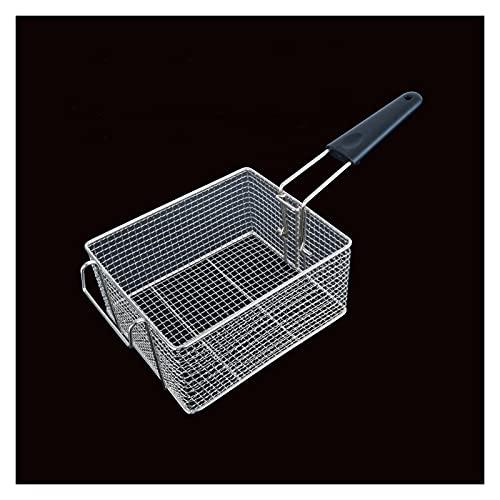 Gebakken mand met handvat Voedsel frituren mesh roestvrij stalen frituurmand Rechthoekige frietjes mandje voor restaurants, hotels, snackbars, etc. Friteusefilter