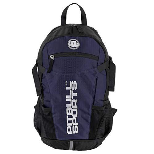Pit Bull West Coast Trekking Rucksack PB Sports Blau - Backpack für Wandern und Sport mit Regenponcho
