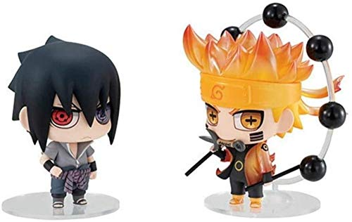 Naruto Figur Susanoo Sasuke & Naruto Figur Anime Chibi Figur Action Figur 2 Pezzi/Lotto