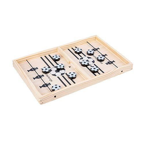 Heshengwan Fast Sling Puck Game, Fast Sling Puck Spiel Holz Durable Air Hockey Brettspiel Spielzeug Eltern-Kind Interaktives Spiel Schach Prop