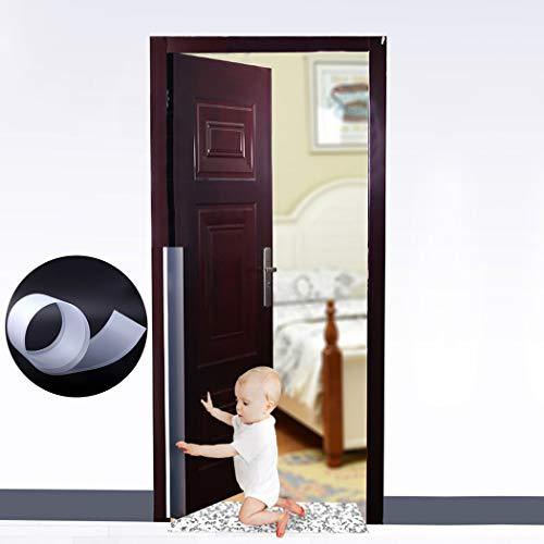 Outgeek Tope Clip Protector Puerta, Tope de Puerta Niño Bebé A Prueba de Dedos Guardia Pinch Guard Bisagra para la Puerta de la Habitación de su Hogar