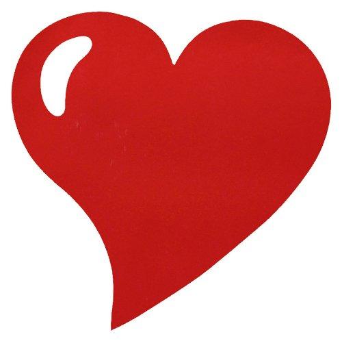 Santex 2935-07 Set de Table Forme Cœur Tissu Rouge 38 x 38 x 0,01 cm