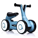 GYMAX Balance Bike, Baby Walker Push Ride On Toy with 4 Wheels, Ages 12-36 Months Toddlers Kids First Birthday Gift