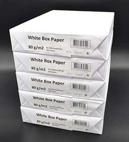 2500 Blatt Multifunktions - Kopierpapier DIN A4, 80g/m², holzfrei weiß