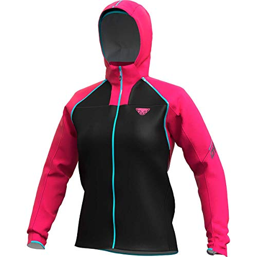 DYNAFIT W Elevation Gore-Tex Shakedry Jacket Colorblock-Pink-Schwarz, Damen Gore-Tex Windbreaker, Größe M - Farbe Lipst