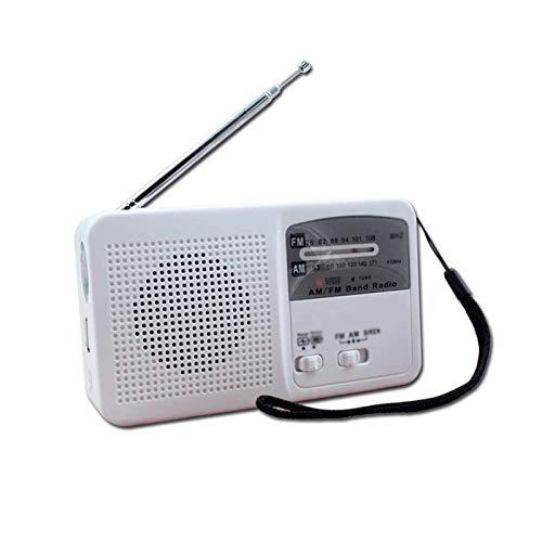 Bdesign Radio portátil Multifuncional, FM Am Radio Solar Mano manivela Emergencia Múltiple Modo de transmisión Función de Alarma, Conveniente para Escuchar la Radio y Reproducir música