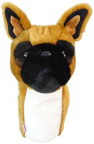 Daphne's Headcovers Frenchie Golf Club Head Cover for 460cc Driver, Brown, Large