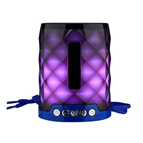 Altavoz Bluetooth inalámbrico Mini columna soporte TF tarjeta FM estéreo Hi-Fi cajas colorido Led Bluetooth altavoz portátil al aire libre bajo altavoz azul