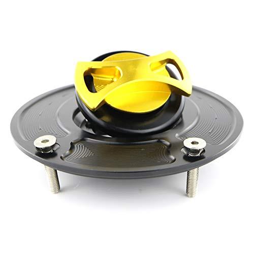 Zhangenlian- Petróleo y Gas Motocicleta CNC Tanque de Combustible Tapa del depósito Cubiertas for Kawasaki (Color : Gold)