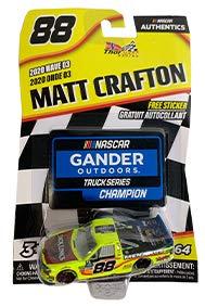 ACTION 2020 1:64 Matt Crafton 88 Menards Truck Diecast Wave 03 Truck Series Champion with Collector Card