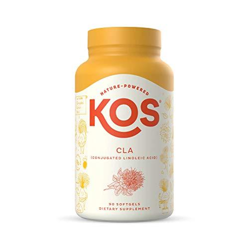 KOS CLA 1250 Safflower Oil Supplement - Conjugated Linoleic Acid for Men & Women - 90 Softgels