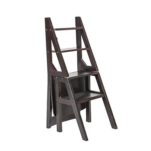 Echelle Escabeau Pliante Tabouret de ménage Escalier Chaise Escabeau Rack Fleur Portable/Chaussures Banc/étagère de Rangement QIQIDEDIAN