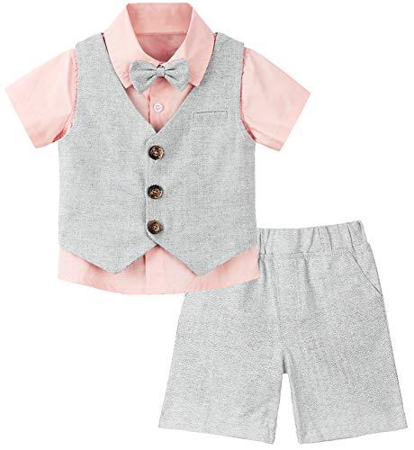 mintgreen Kurzarm-Set für Kleinkinder, Rosa, 3-4 Jahre (Herstellergröße : 110)