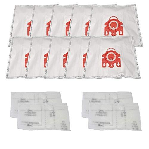 Bolsas para aspiradoras y filtros compatibles con Miele FJM Airclean. Sustituye a la pieza 7291640. Compatible con S241-S256i, S290-S291, S300i-S399, S500-S578, S700.