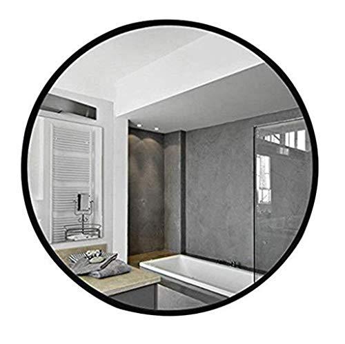 Miroir - miroir rond de salle de bain en fer forgé, miroir mural blanc 60/70 / 80cm (taille : 70cm)